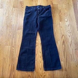 Dark brown Calvin Klein corduroy bootcut pants